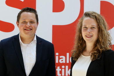 Felix Bayer aus Glauchau und Antje Junghanns aus Lichtenstein sind das heue Führungsduo.