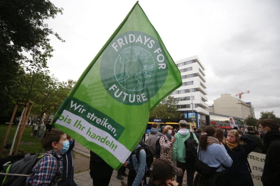Hunderte bei Fridays for Future in Chemnitz