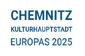 Das neue Logo, das die Stadt Chemnitz in ihrer Kommunikation verwendet, weist auf die Europäische Kulturhauptstadt 2025 hin.