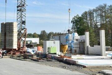 Mitte Mai herrschte reges Treiben auf der Baustelle für den neuen Aldi in Adorf.