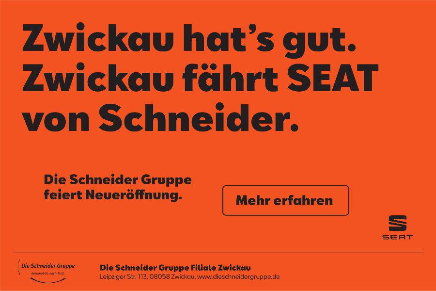 Neu: Die Schneider Gruppe eröffnet neue SEAT Filiale in Zwickau!
