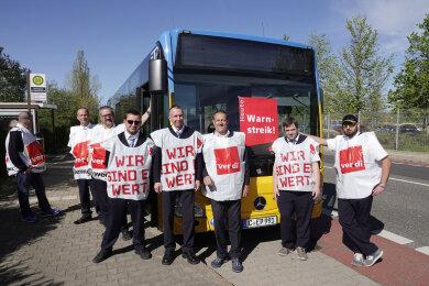 In Chemnitz beteiligen sich Mitarbeiter von Euro Traffic Partner - einem Partnerunternehmen der CVAG - am Streik.