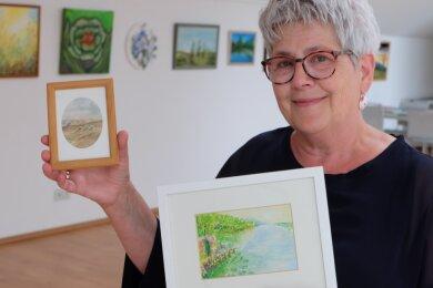 """43 Hobbykünstler zeigen ab dem heutigen Freitag ihre Werke bei den """"Offenen Monaten"""" in der Galerie des Heinrich-Hartmann-Hauses. Die Oelsnitzerin Petra Lohse ist zum ersten Mal dabei."""
