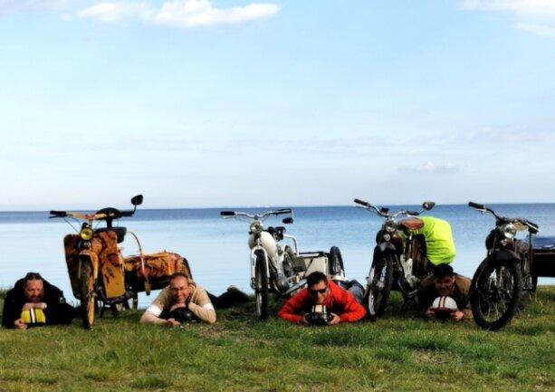 Impressionen von der Rundreise - beim Zwischenstopp in Kap Arkona.