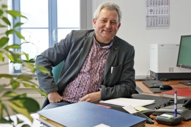 Michael Franke - seit 100 Tagen lenkt er die Geschicke der Gemeinde Mülsen.