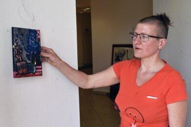 Arbeiten von der Greizer Künstlerin Tanja Pohl sind seit dieser Woche in der Dorfgalerie Auerswalde zu sehen.