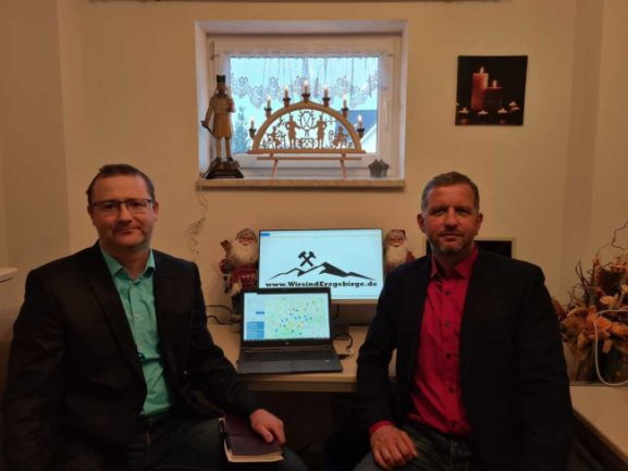 Pierre Lindner (links) und Marcel Schmidt, Mit-Initiatoren der Online-Plattform