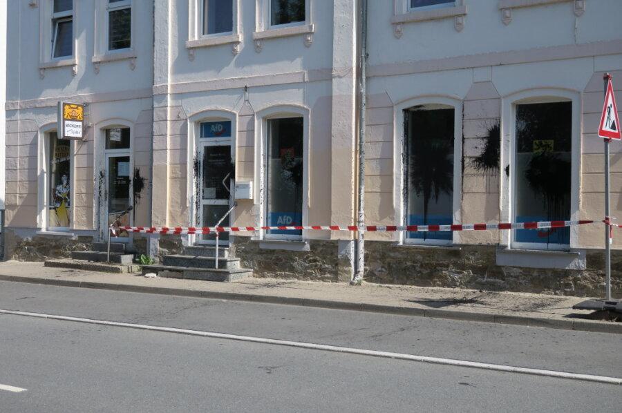 AfD-Parteibüro in Schwarzenberg angegriffen