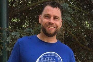 Zweitbester ostdeutscher Tennisspieler der AK 40: Lars Hack vom Freiberger HTC.