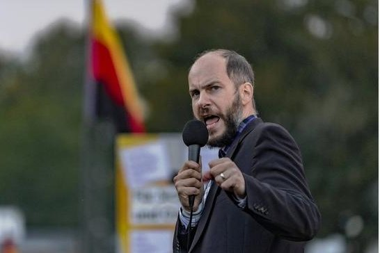 """Martin Kohlmann, Chef von Pro Chemnitz, sieht """"Potenzial für eine Zusammenarbeit"""" mit dem  """"Aufbruch deutscher Patrioten""""."""