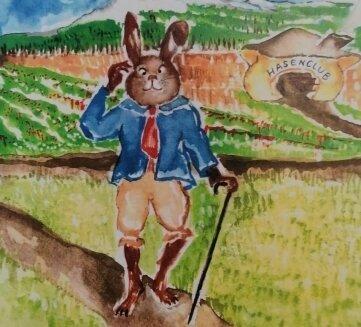 Marion Hallbauer hat die Hasen-geschichte illustriert.
