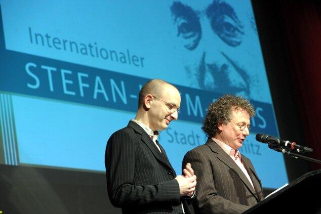 Ingo Schulze (rechts) und Jakob Hein.