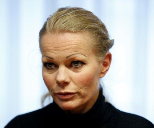 """Kathrin Oertel, Sprecherin und einzige Frau im zwölfköpfigen Organisationsteam der """"Patriotischen Europäer gegen die Islamisierung des Abendlandes"""""""