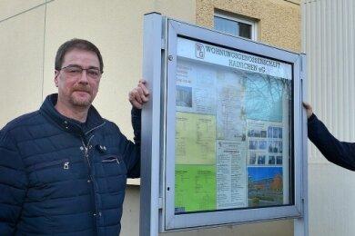 Mario Kempinger (l.) übernimmt von Michael Hofer die Geschäftsführung der Wohnungsgenossenschaft Hainichen.