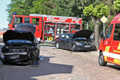 Ein BMW und ein Renault sind am Freitagvormittag in Lichtenstein zusammengestoßen.
