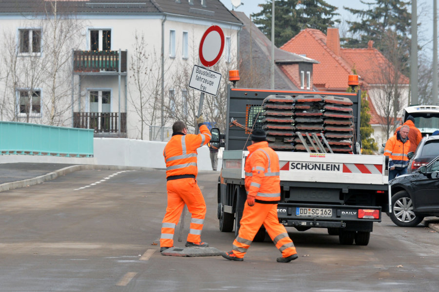 Am Mittwochnachmittag wurde die Brücke auf der Chemnitzer Straße freigegeben.