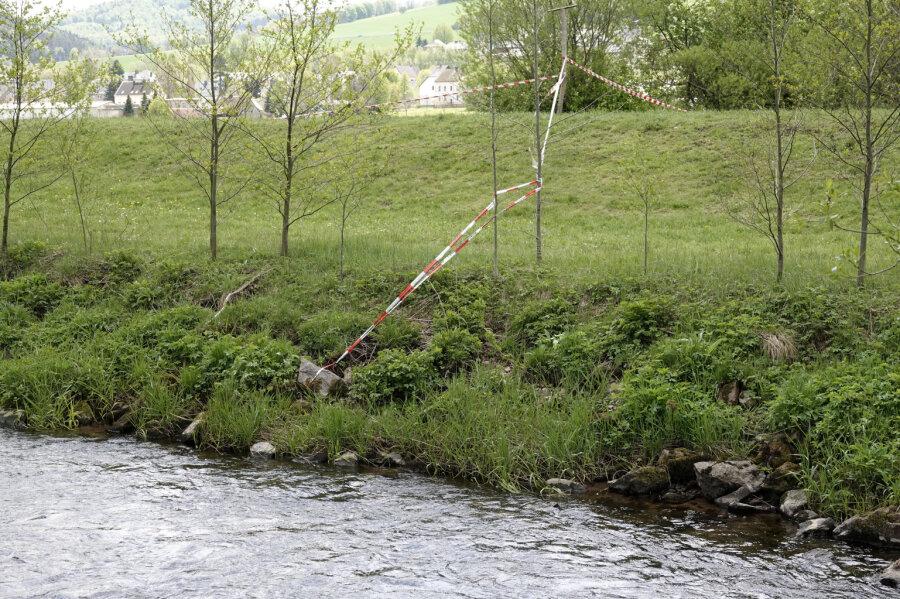 Olbernhau: Leiche in der Flöha gefunden