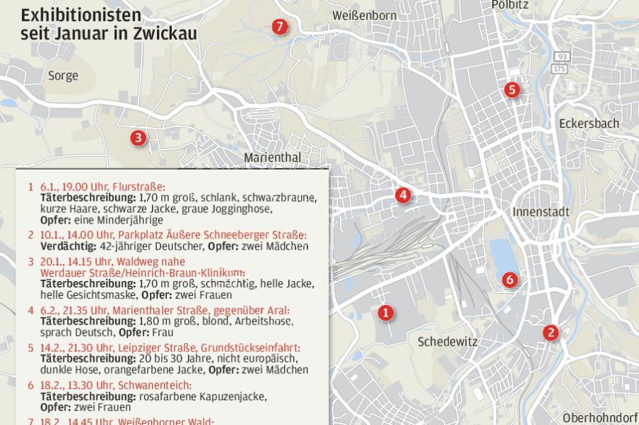 Exhibitionismus-Serie in Zwickau: Polizei geht von mehreren Tätern aus