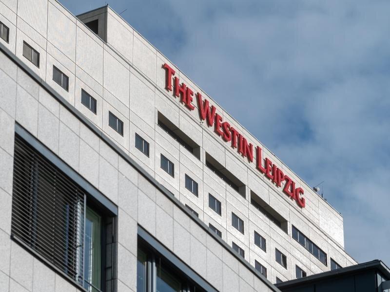 Bklick auf das Hotel Westin Leipzig.