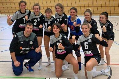 Endlich Grund zum Jubeln: Die zweite Frauenmannschaft des SSV Fortschritt Lichtenstein hat ihr Auswärtsspiel beim USV TU Dresden am Samstag mit 3:1 gewonnen.