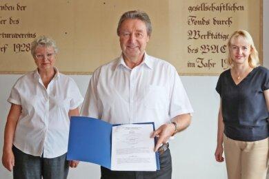 Ulla Reichel, Gerd Drechsler und Kathrin Köhler (von links).