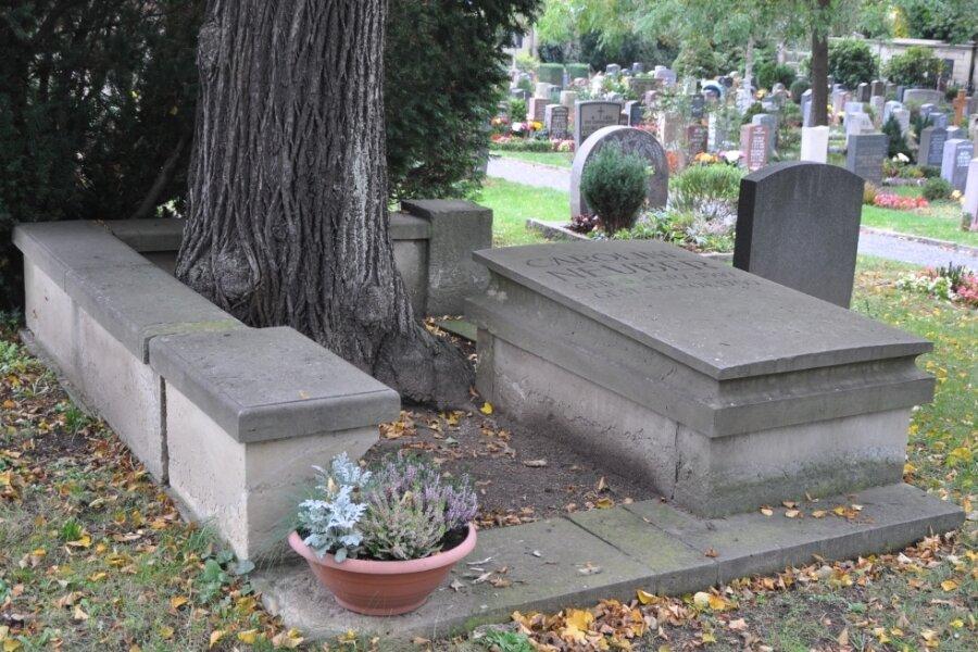 Das Grab der Neuberin auf dem Leubener Friedhof.