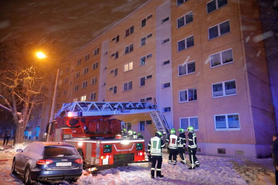 Wohnungsbrand im Chemnitzer Zentrum