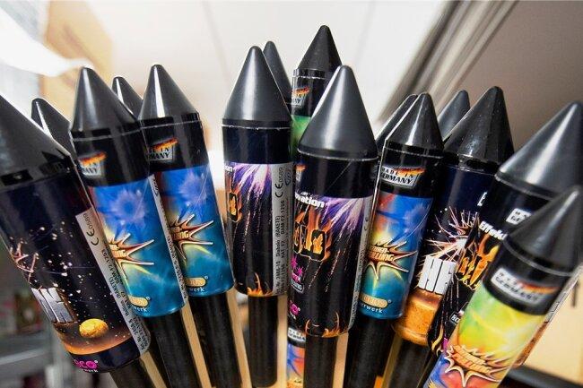 Feuerwerk aus Freiberg hat sich immer gut verkauft. Doch zum Jahreswechsel 2020/21 fiel das Geschäft ins Wasser. Schuld waren die Coronaregeln.