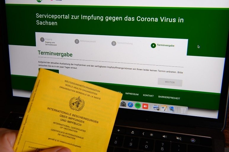 Datenschutz verhindert Registrierung im Corona-Impfterminportal