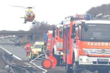 Auch der Rettungshubschrauber war im Einsatz.