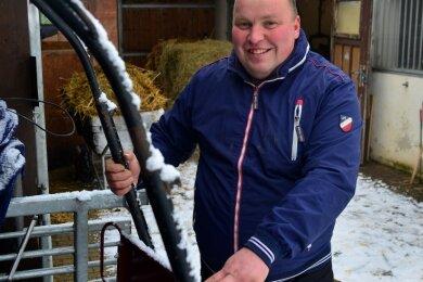 Pferdesportler Thomas Rodewohl hat seine Kutschen zum Großteil im Winterquartier stehen. Lediglich eine nutzt er in diesen Wochen für Trainingsfahrten rund um Altmittweida.