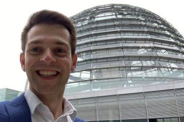 Philipp Hartewig war am Montag bereits im Bundestag.