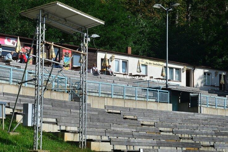 Die Seebühne an der Talsperre Kriebstein befindet sich im Investitionsprogramm der Gemeinde.