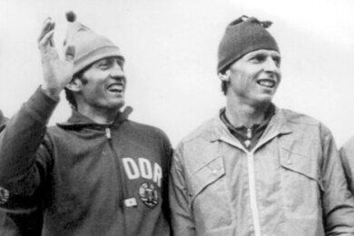 Horst Koschka, Dieter Speer, Joachim Meischner und Hansjörg Knauthe (v. l.) gehörten zur DDR-Staffel, die Bronze gewann.