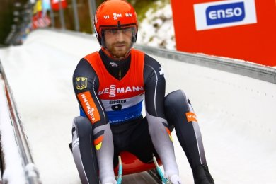Chris Eißler beim Nationencup im Januar in Altenberg.
