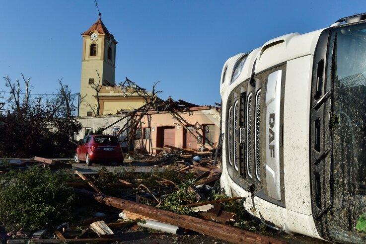 Auch die Kirche in Moravska blieb nicht verschont.