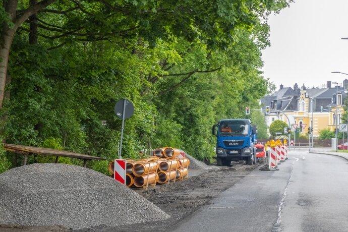 Parkstraße halbseitig gesperrt