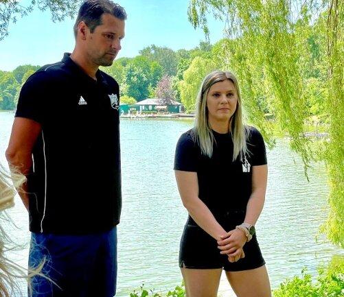 Anna Frankova (r.) mit BSV-Trainer Norman Rentsch.