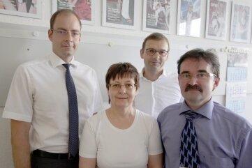Gefragte Experten: Notar Arne Schwerd, Plauen; Notarin Anke Hofmann, Chemnitz; Fachanwalt Frank Simon, Dresden, und Notar Wolfgang Ritter, Zwickau (v. l.).