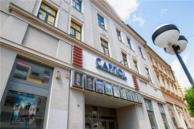 Das Plauener Kino Capitol an der Bahnhofstraße wird vorerst noch geschlossen bleiben.