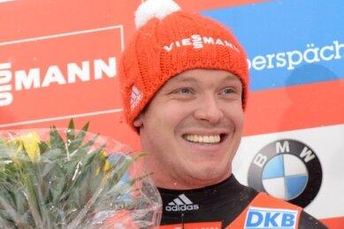 Anke Wischnewski - Titelverteidiger Felix Loch.