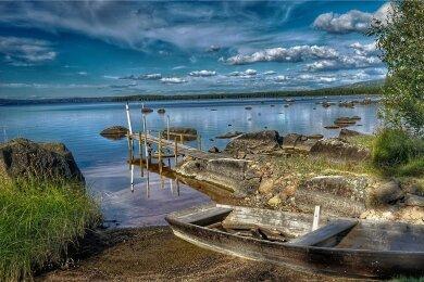 Der Siljan-See in der Provinz Dalarna gehört zu den beliebtesten Ferienorten Mittelschwedens. Er soll vor 370 Millionen Jahren durch einen Meteoriteneinschlag entstanden sein.
