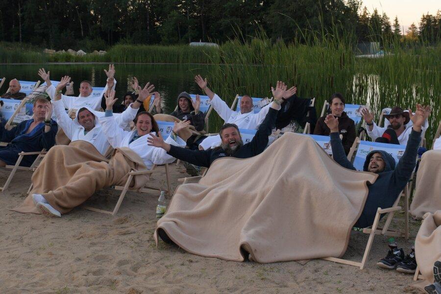 Bei den Teilnehmern an der Deutschen Aufguss-Meisterschaft herrschte beste Stimmung.