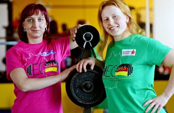 Die Chemnitzerinnen Nicole Fydrich (links) und Vivien Röder starten wie 2015 vor heimischer Kulisse auch 2016 gemeinsam bei der EM.