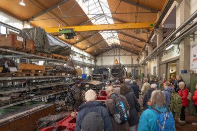 Veranstaltungen wie Werkstattführungen fallen bei der Fichtelbergbahn vorerst aus. Auch Sonderfahrten sind abgesagt.
