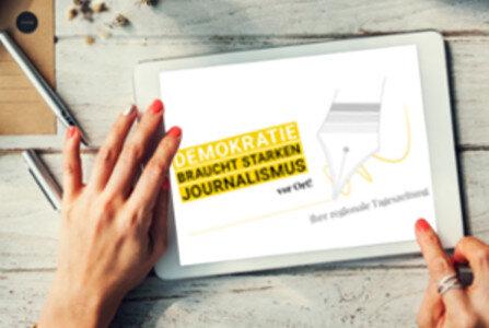 Demokratie braucht starken Journalismus - vor Ort!