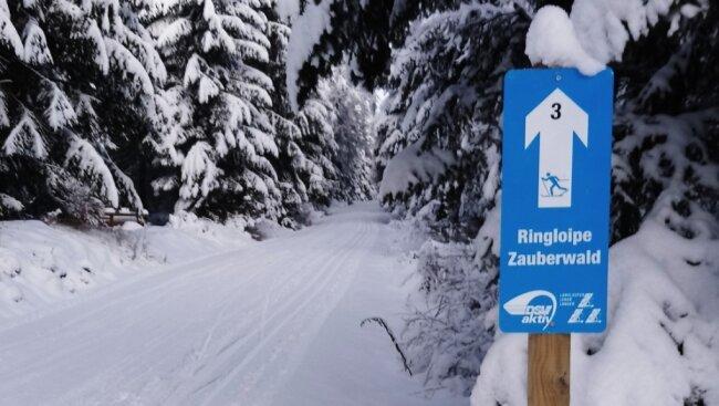 Die Zauberwald-Loipe zwischen Erlbach und Klingenthal ist derzeit ein Anziehungspunkt.