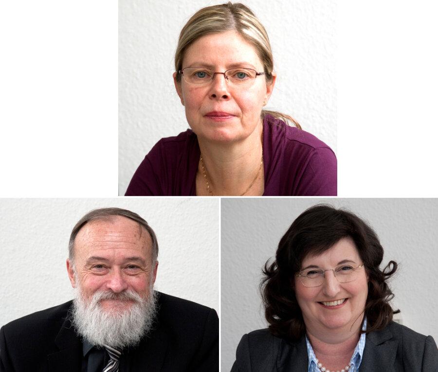 Die Experten:Oben: Dr. Cornelia Haupt; unten: Dr. Dietmar Beier und Dr. Sophie-Susann Merbecks