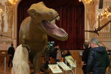 Der Tyrannosaurus Rex fand bei den Besuchern besonderes Interesse.