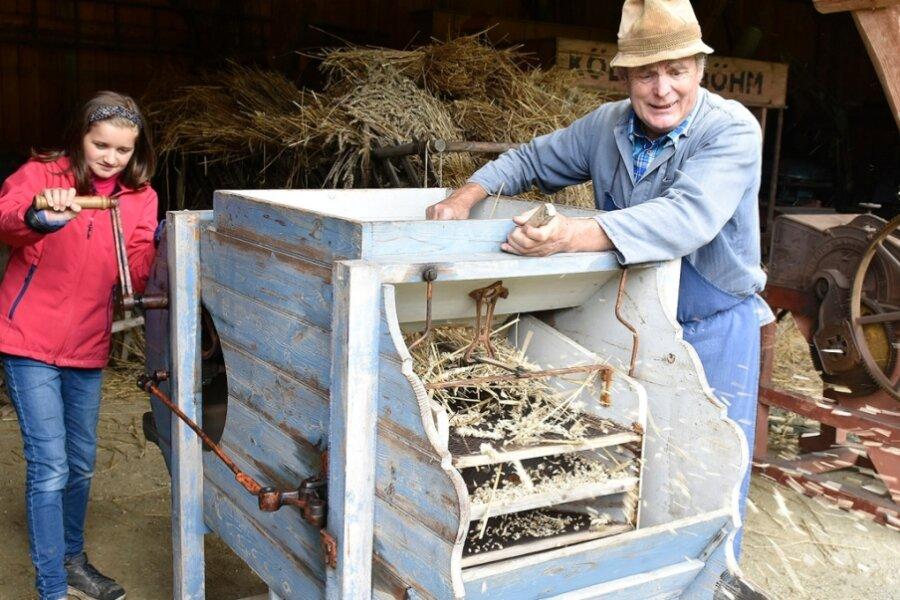 Freilichtmuseum Eubabrunn führt historische Landtechnik vor